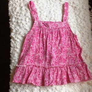 NWT GAP pink floral top size small 6/7